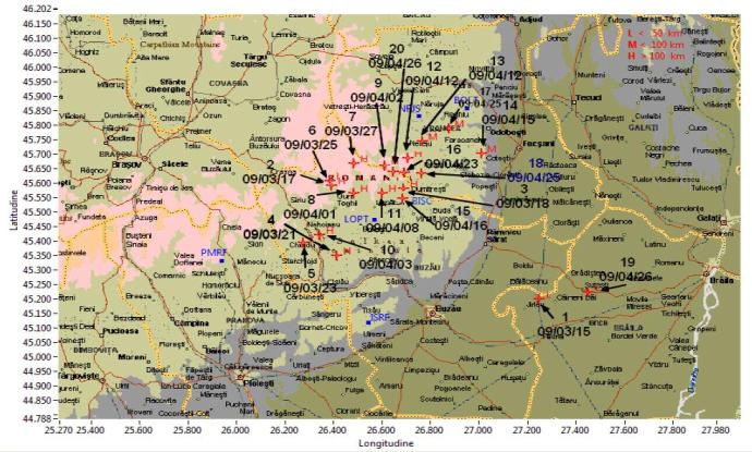 Ritmul sesimicităţii vrâncene; Foto: Institutul Român de Seismologie Aplicată