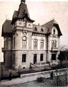 Imagine a clădirii din Batiștei 31 la 1906 [sursa: F. Damé, p. 181]